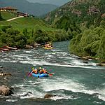 Rafting on the Avisio
