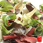 English Roast Beef on mixed salad  - Refined dish