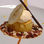 Apple cooked at low temperature with whipped vanilla