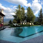 The outdoor panoramic swimming pool