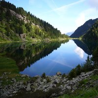 Lagorai lake in Val di Fiemme  - A spectacular picture of Lagorai lake