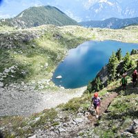 - View of the lake from the Ferrata dei Laghi in Cavalese