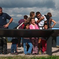 Children and panoramio on Cermis  - Children observe the landscape from the panoramio of Cima Paion
