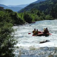 Quiet moments during rafting  - Rare moments of peace during rafting in Val di Fiemme