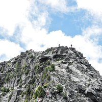 Cermiskyline wall  - A picture of the wall on the Ferrata dei Laghi