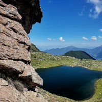 - A stunning picture of di Bombasel lakes from the ferrata