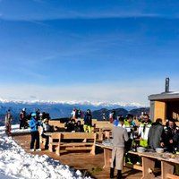 View of Lo Chalet Cavalese  - View of the Chalet terrace in Cavils