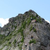 Cermiskyline, vertical wall  - The vertical wall of the lakes ferrata on Cermis