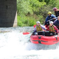 Group rafting in a Cavalese  - A group rafting in Val di Fiemme