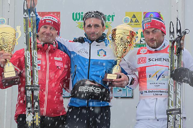 Sergio Bonaldi (ITA) wins the Dolomitenlauf in front of Bajcicak (ITA) and Northug (NOR)!
