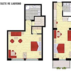 Family Suite Re Laurino mappa