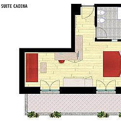 Junior Suite Cadina mappa