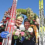 The winners of Marcialonga 2011 - 70 km