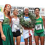 The winners with the Soreghina - 1� Eliana Patelli - Atl. Valle Brembana 2� Viviana Rudasso - Gruppo Citta