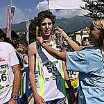 The huge effort is awarded at the finish - Cavalese