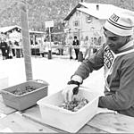 Food and drink station at Zianno di Fiemme - 1972