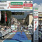 The finish in Cavalese