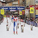 Fabio Santus Italy - The arrival of the winner of the FIS Marathon Cup