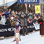 41st MARCIALONGA - 26.01.2014 - Tikhonova on finish line